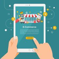 digitale marketing e-commerce illustratie vector