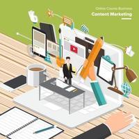 digitale marketing illustratie vector