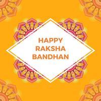 Vlakke Gelukkige Rakhi-Groeten met Mandala Vectorillustratie Als achtergrond vector