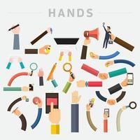 vector handen instellen