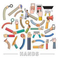 handen vector set overzicht
