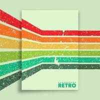 retro design poster met vintage grunge textuur en kleurrijke strepen. vector illustratie