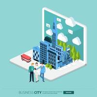 isometrische stadsbedrijf vector