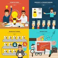 illustraties voor digitale marketingstrategieën vector