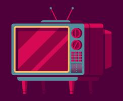 Retro televisie set vector