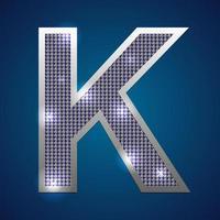 alfabet knipperen k vector