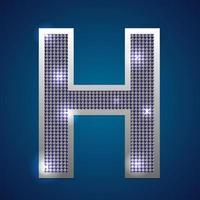 alfabet knipperen h vector