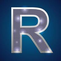 alfabet knipperen r vector