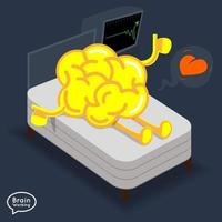 hersenen geprobeerd illustreren vector