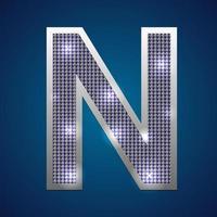 alfabet knipperen n vector