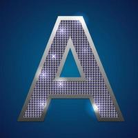 alfabet knipperen a vector