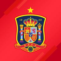 Spaanse voetbalpatch vector