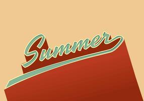 Retro typografie vectorillustratie vector