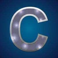 alfabet knipperen c vector