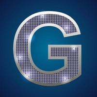 alfabet knipperen g vector