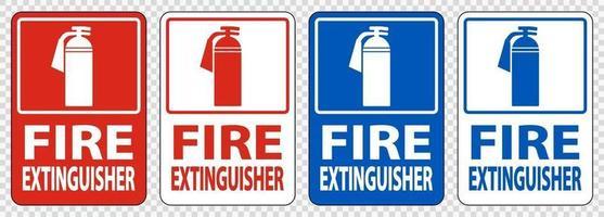 brandblusser teken symbool teken isoleren op transparante achtergrond, vectorillustratie vector