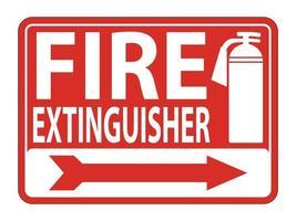 brandblusser teken op witte achtergrond, vectorillustratie vector