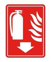 brandblusser teken op witte achtergrond vector
