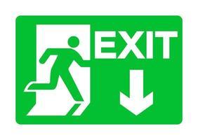 exit groene noodsituatieteken isoleren op witte achtergrond vector