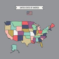 Overzicht kaart van Amerika