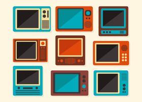 Oude Retro Televisie Vector