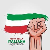 Italiaanse republiek dag. jaarlijks gevierd op 2 juni in Italië vector