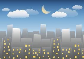 nacht stad achtergrond vector