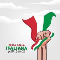 vectorillustratie van festa della repubblica italiana poster vector