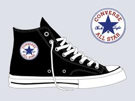 Converse Chuck Taylor All Star vector sjabloon