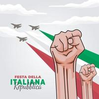 republiek dag van italië poster vector