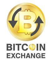 bitcoin exchange-logo op een witte achtergrond vector