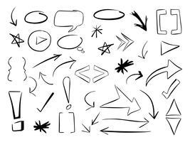 Hand getrokken vectorelementen vector