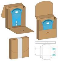 doos verpakking gestanst sjabloonontwerp. 3D-model vector