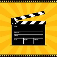 Clapper Board Vector voor film of film