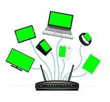 slim apparaat verbinden met router vector