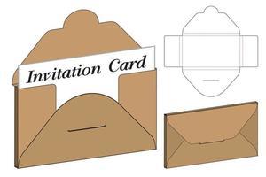 envelop gestanst mock up sjabloon vectorillustratie. vector