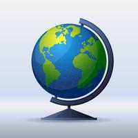 Wereldbol platte ontwerp illustratie vector