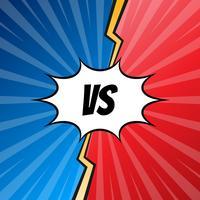 versus letters vechten pop-art stijl illustratie