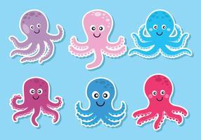 octopus vector set