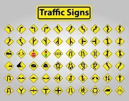 waarschuwingsborden instellen, verbodssymbool teken isoleren op witte achtergrond vector