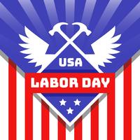 Dag van de Arbeid VS Vector