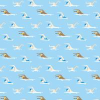 Platte patroon zwemmen