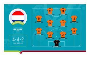Nederland line-up voetbaltoernooi laatste fase vectorillustratie vector