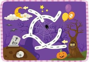 educatief doolhofspel voor kinderen illustratie vector