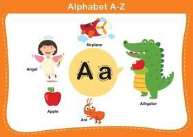 alfabet letter een vectorillustratie vector