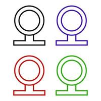web cam pictogram op witte achtergrond vector