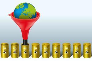 olieproductie en milieubescherming. vector