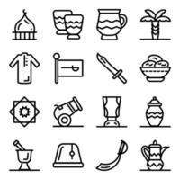 Saoedische religie elementen vector