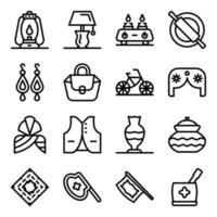 pakistaanse elementen en cultuur vector