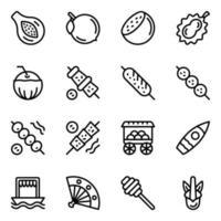 Indonesische voedselelementen vector